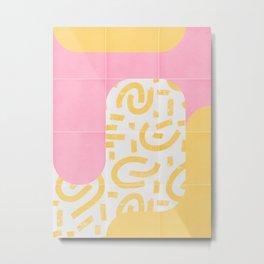 Sunny Doodle Tiles 02 #society6 #midmod Metal Print