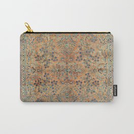 Kashan Floral Persian Carpet Print Carry-All Pouch