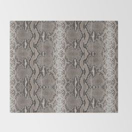 Python Snakeskin Print Throw Blanket