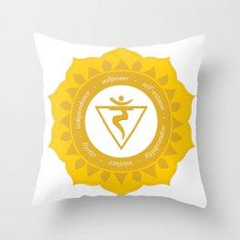 Solar Plexus Chakra #53 Throw Pillow