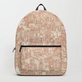 vintage halloween rust ivory Backpack