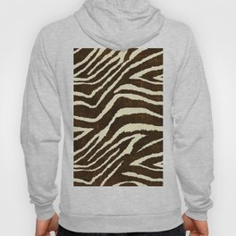 ZEBRA IN WINTER BROWN AND WHITE Hoody