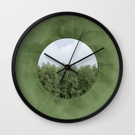 Leaves in the Trees, Trees in the Forest Wall Clock