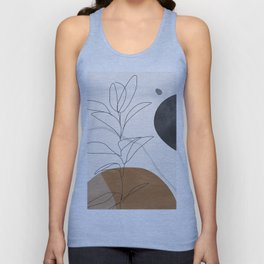 Abstract Art /Minimal Plant Unisex Tank Top