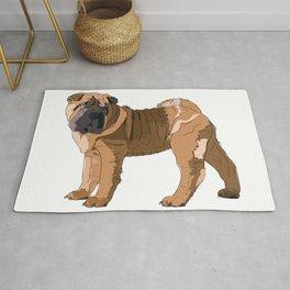 Shar Pei dog Rug
