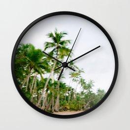Paradise found | Coastal beach fine art photography print | The Dominican Republic Wall Clock