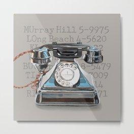 Vintage Telephone Metal Print