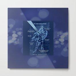 Full Armor of God - Warrior Girl 2 Metal Print