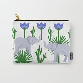 Elephant & Palms Carry-All Pouch