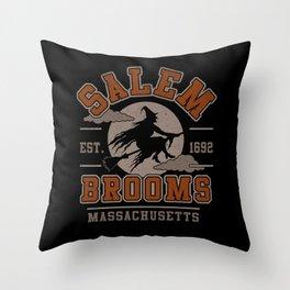 Salem Brooms Throw Pillow
