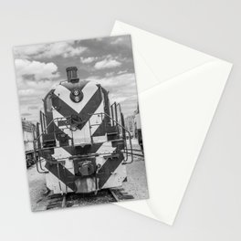 Chicago and North Western Diesel Electric ALCO Locomotive Train Engine 1689 Black and White Photography Stationery Cards