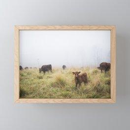 Calf Framed Mini Art Print