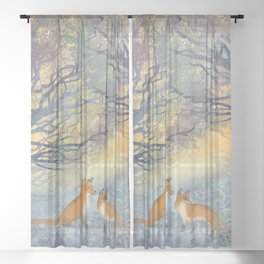 The Two Foxes Sheer Curtain