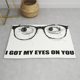 I Got My Eyes On You - Scribble Artwork Rug
