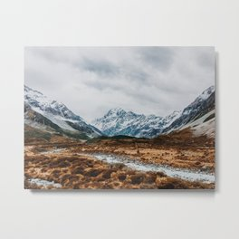 Mount Cook National Park Metal Print