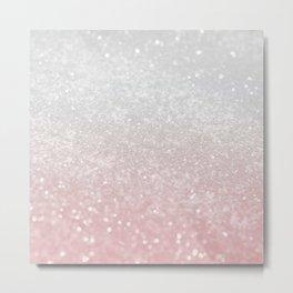 Blush Gray Princess Glitter #1 (Faux Glitter - Photography) #shiny #decor #art #society6 Metal Print