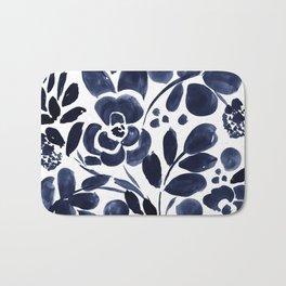 Navy Floral Badematte