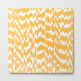 Abstract Art, Fun, Yellow Art Metal Print