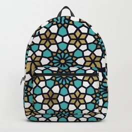 Persian Mosaic – Turquoise & Gold Palette Backpack