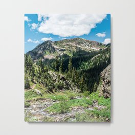 No Trails to the Top // Incredible Hiking Views Blissful Beauty Peaceful Landscape Photography Metal Print
