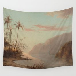 Camille Pissarro - A Creek in St Thomas (Virgin Islands) Wall Tapestry