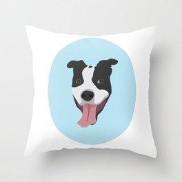 Smiley Pitbull Throw Pillow
