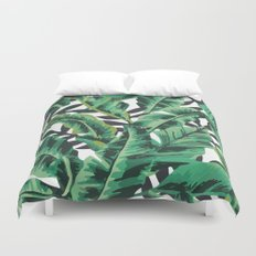 Tropical Glam Banana Leaf Print Duvet Cover