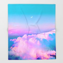 Bubblegum Sky Throw Blanket