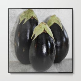 Three Eggplants | The Good, The Bad, & The Ugly | True story! Metal Print