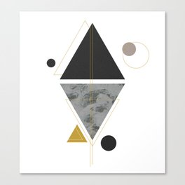SAB-23 deco black triangle Canvas Print