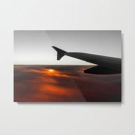 Sunrise on a Flight Metal Print