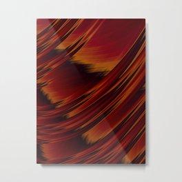 Dark Red Abstract Fractal Metal Print