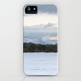 Snow Covered Valley iPhone Case