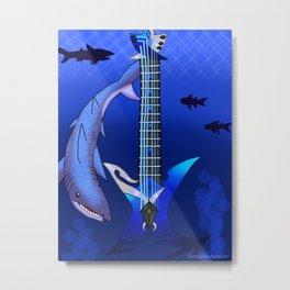 Keyblade Guitar #25 - Abyssal Tide Metal Print