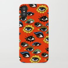 60s Eye Pattern iPhone X Slim Case
