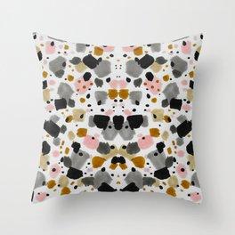 Terrazo brushstrokes I Throw Pillow