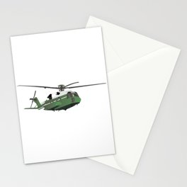 Green American Helicopter Stationery Cards
