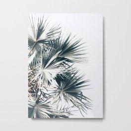 Left Palm Leaves Metal Print