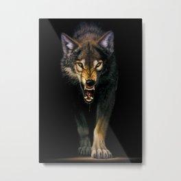 Angry Wolf Live Metal Print