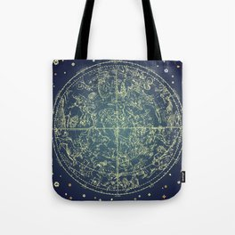 Stars Constellations Map Tote Bag
