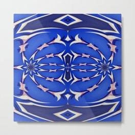 Neo Aztec Oil Painted Geometric Metal Print