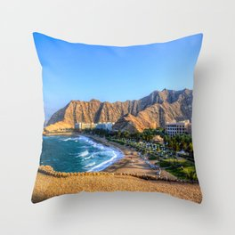 Shangri la resort Muscat Oman Throw Pillow