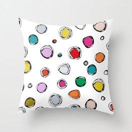 wilderdot white Throw Pillow