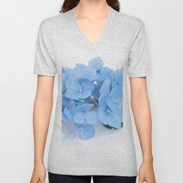 Blue Hydrangeas #1 #decor #art #society6 Unisex V-Neck