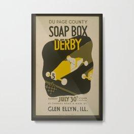 Vintage American WPA Poster - Du Page County Soap Box Derby (1939) Metal Print