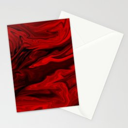 Blood Red Marble Stationery Cards