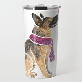 Watercolour German Shepherd Dog Travel Mug
