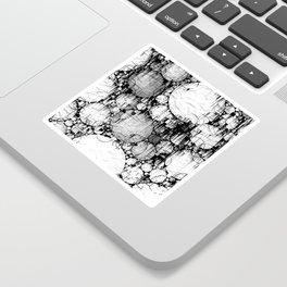 Glitch Black & White Circle abstract Sticker