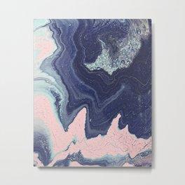Fluid No. 11 - Geode Metal Print