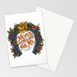Never Stop Falling For Me Stationery Cards